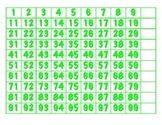 File Folder Activity 100-chart Missing Multiples of 10 (Li