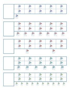 File Folder Activity 11-20 Ten Frames (Snowmen)