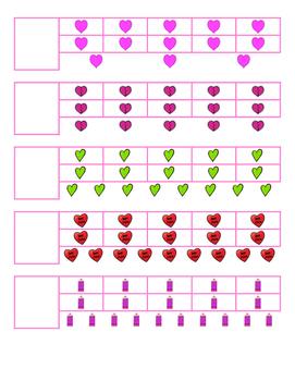 File Folder Activity 11-20 Ten Frames (Valentine's)