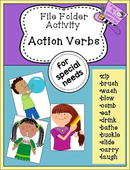 File Folder Activity:  Action Verbs For Special Needs