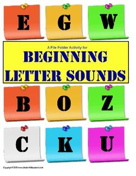 File Folder Activity Beginning Letter Sounds {Initial Sounds}