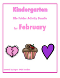 File Folder Activity Bundle for February (Valentines Theme)