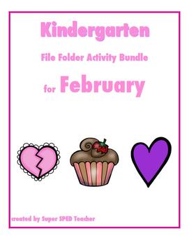 File Folder Activity Bundle for February (Valentines Theme)