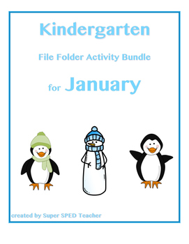 File Folder Activity Bundle for January (Winter Theme)