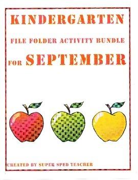 File Folder Activity Bundle for September (Back to School Theme)