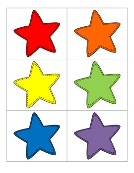 File Folder Activity Color Words (Star Theme)