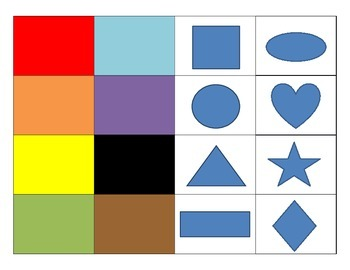 File Folder Activity - Colors and Shapes (Special Ed, Autism)