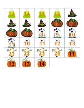 File Folder Activity Count Forward 0-20 (Halloween Theme)