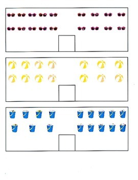 File Folder Activity Count and Compare 0-10 (Beach Theme)