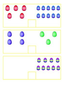 File Folder Activity Count and Compare 0-10 (Easter Theme)