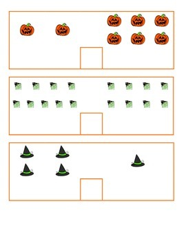 File Folder Activity Count and Compare 0-10 (Halloween Theme)