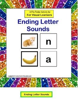 File Folder Activity Ending Letter Sound {Final Letter Sound}