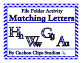 File Folder Activities: Matching Letters (Blue)
