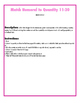 File Folder Activity Number to Quantities 11-20 (Valentine