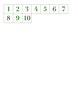 File Folder Activity Numeral to Quantity 1-10 (Holiday Theme)
