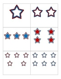 File Folder Activity Numeral to Quantity 1-10 (Patriotic Stars)