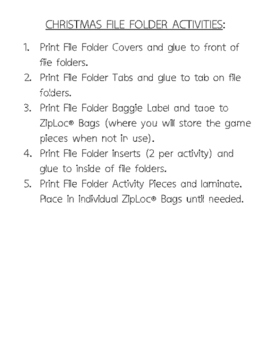 File Folder Activity Packet - Christmas