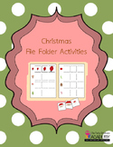 File Folder Activity Packet - Christmas