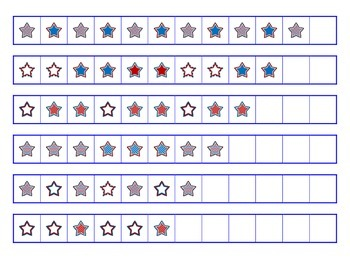 File Folder Activity Patterns (Patriotic Stars Theme)