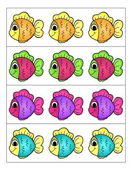 File Folder Activity Preceding and Following Numerals 1-20 (Fish Theme)