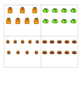 File Folder Activity Quantity to Numeral 1-10 (Halloween Theme)