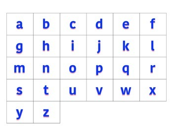 File Folder Activity Sequence Lowercase ABCs (Blue)