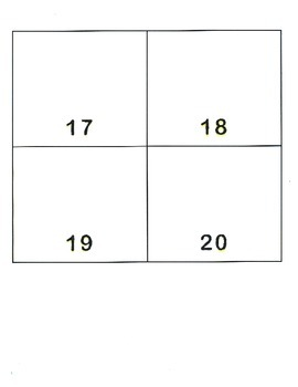 File Folder Activity Show Quantity to Given Numeral 11-20 (Beach Theme)