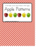 File Folder Apple Patterns { Autism/Early Childhood/Special Education}