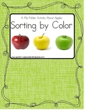 File Folder Apple Sorting By Color {Autism/Early Childhood/Special Education}