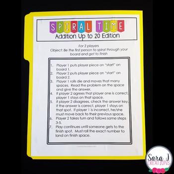 Addition File Folder Game