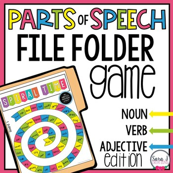 Parts of Speech Game - Noun, Verb and Adjective