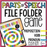 Parts of Speech File Folder Game - Preposition, Verb, Pronoun