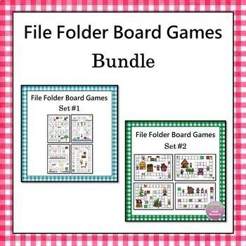 File Folder Board Games Bundle