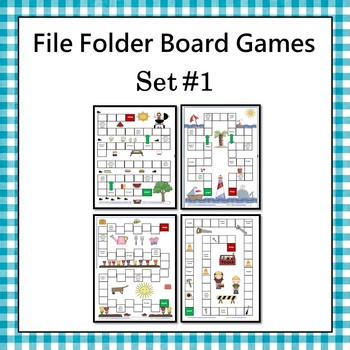 File Folder Board Games Set 1