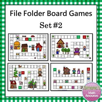 File Folder Board Games Set 2