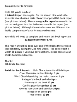 File Folder Book Reports: Main Character and Pencil