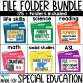 Special Education File Folder BUNDLE