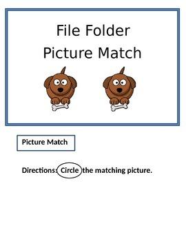 File Folder Bundle (Letter Match, Number Match, Rhyming Words, Picture Match
