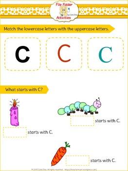 Letter C - File Folders