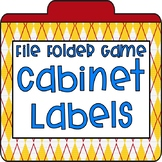 File Folder Cabinet Labels