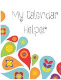 File Folder Calendar Helper