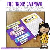 File Folder Calendar-Interactive File Folder for Toddlers