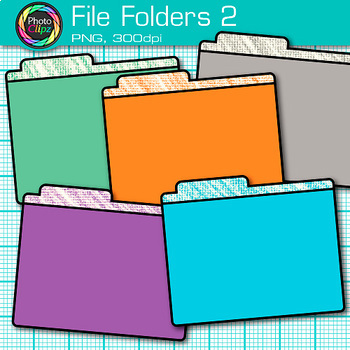 File Folder Clip Art {Rainbow Glitter Back to School Supplies, Organization} 2