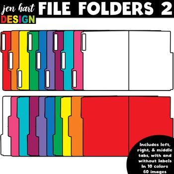 File Folder Clipart 2 (opened folders)