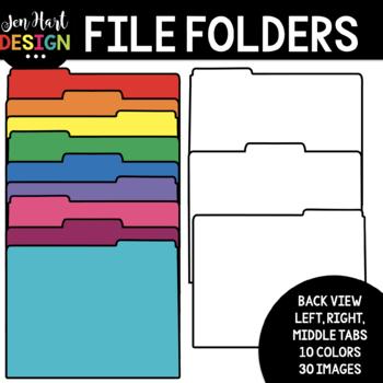 File Folder Clip Art - School Clipart {jen hart Clip Art}