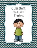 File Folder Coin Sort