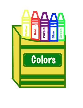 File Folder- Color Matching Crayons