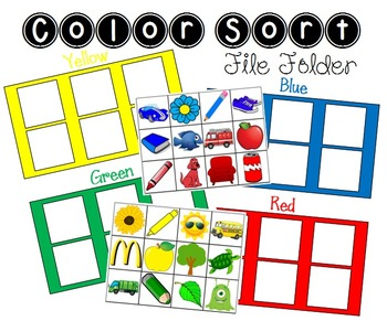 File Folder Color Sort