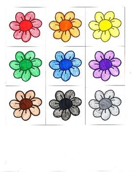 File Folder Color Words (Flower Theme)