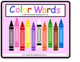 File Folder Colors and Color Words Game
